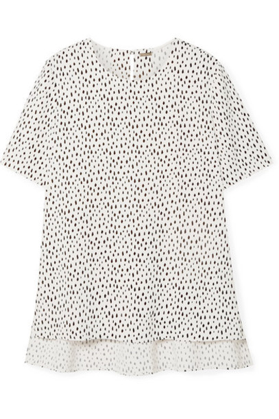 Adam Lippes - Printed Crepe Top - White