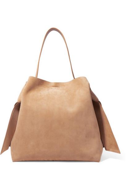 Acne Studios - Musubi Maxi Knotted Suede Shoulder Bag - Tan