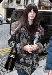 coat,lana del rey,tribal pattern,fur coat