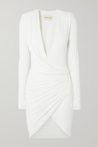Alexandre Vauthier - Ruched Stretch-jersey Mini Dress - White