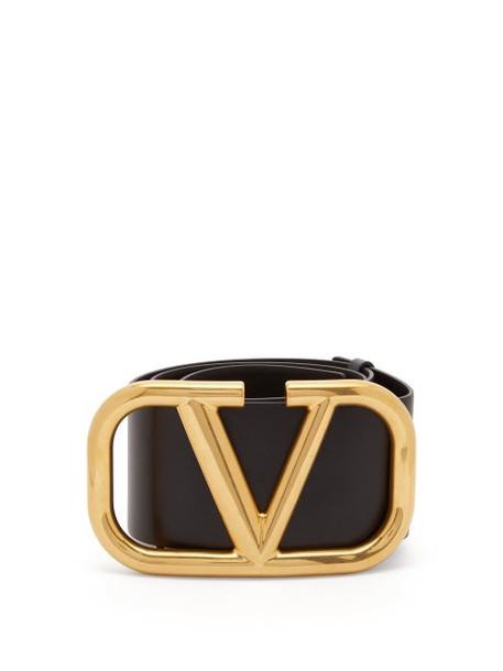 Valentino - Go Logo Buckle Leather Belt - Womens - Black