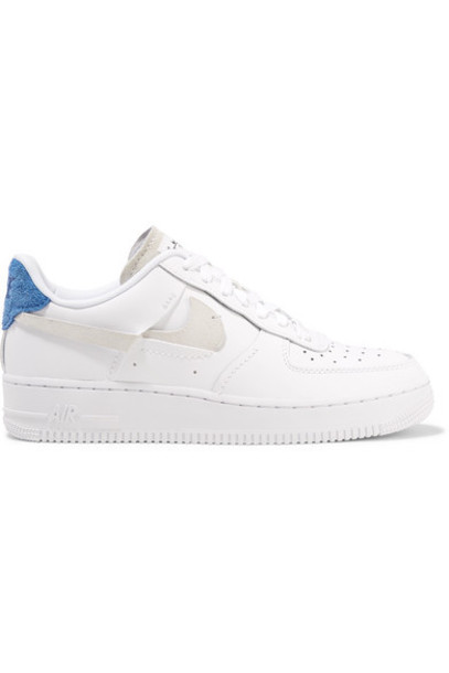 Nike - Air Force 1 Lx Suede-trimmed Leather Sneakers - White