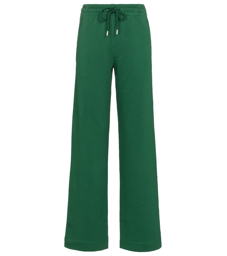 Dries Van Noten Cotton sweatpants in green