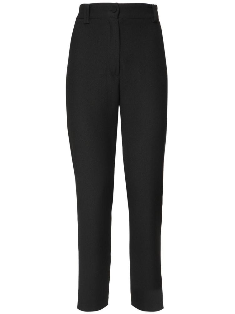 HEBE STUDIO Lou Lou High Waist Cady Straight Pants in black