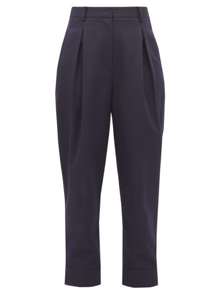 Tibi - Recycled Tailored Technical Twill Trousers - Womens - Navy