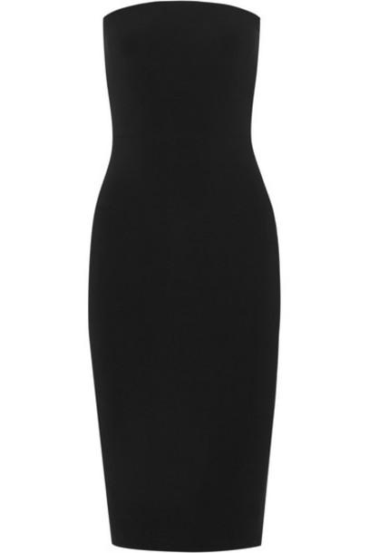 Norma Kamali - Strapless Stretch-jersey Dress - Black