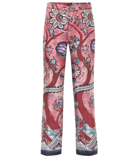 F.R.S For Restless Sleepers Hypnos printed silk wide-leg pants in red