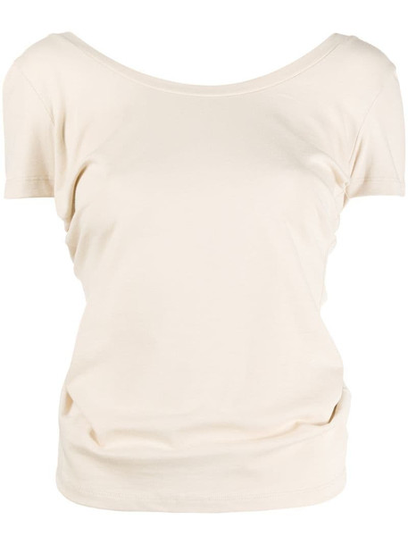 Jacquemus Le t-shirt Sprezza knotted T-shirt in neutrals