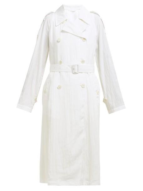 Helmut Lang - Parachute Boiler Trench Coat - Womens - White