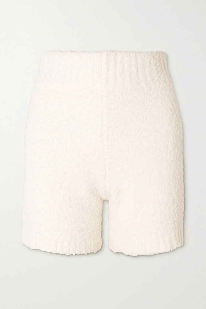 SKIMS - Cozy Knit Bouclé Shorts - Bone in white