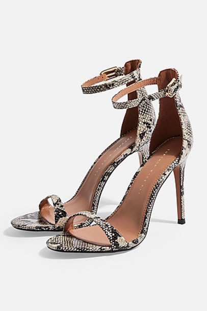 Topshop *Wide Fit Susie Two Part Snake Sandals - Multi