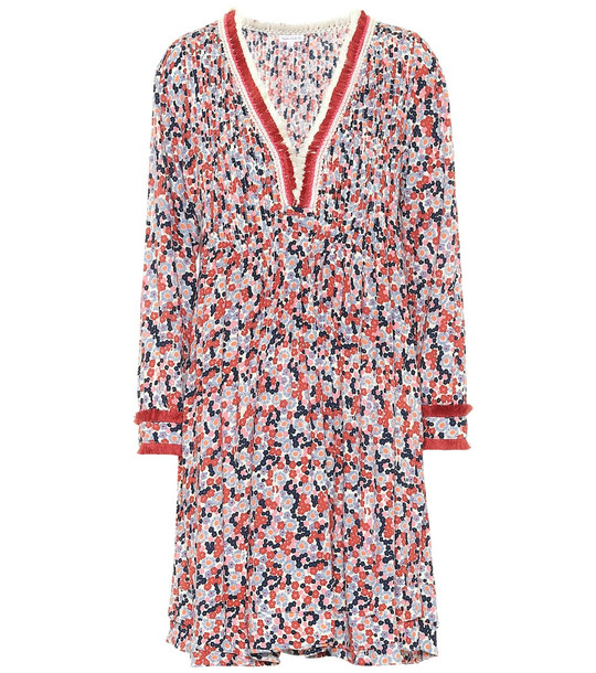Poupette St Barth Exclusive to Mytheresa – Ola floral crêpe de chine dress in red