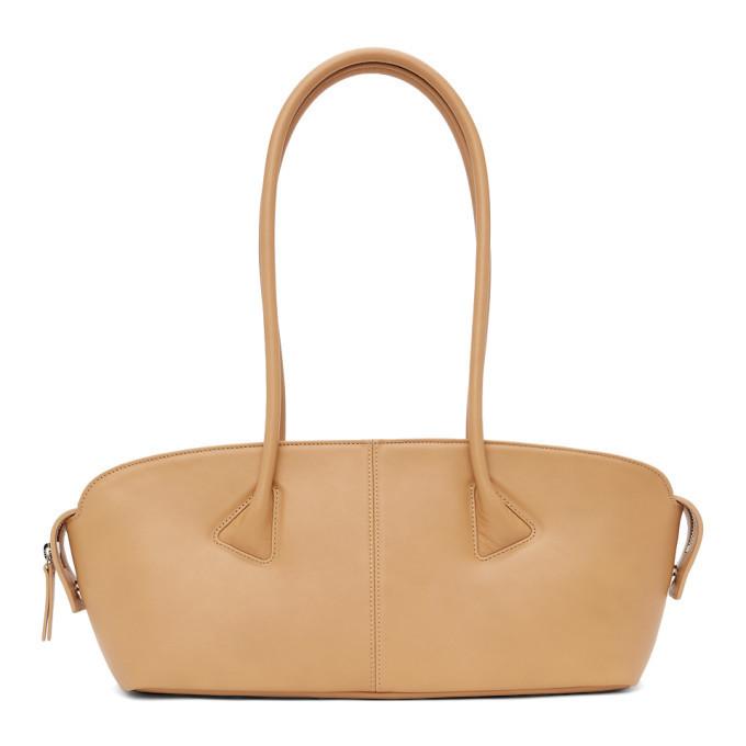 LOW CLASSIC Tan Baguette Bag in camel