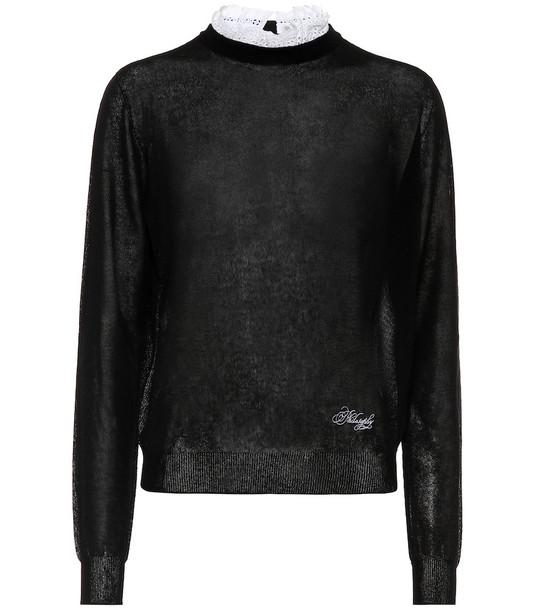 Philosophy Di Lorenzo Serafini Lace-trimmed sweater in black