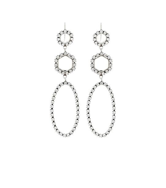Isabel Marant Crystal-embellished earrings in silver