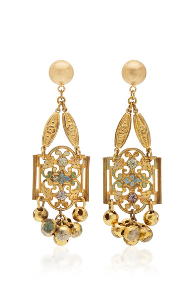 Lulu Frost Gold-Plated Crystal Earrings