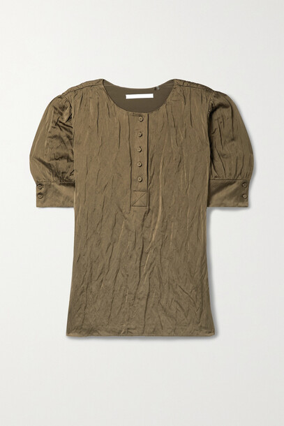 Jason Wu Collection - Crinkled-satin Blouse - Green