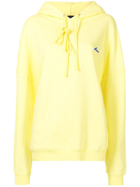 We11done oversized cotton hoodie in yellow