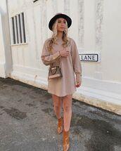 shoes,ankle boots,midi dress,crossbody bag,hat