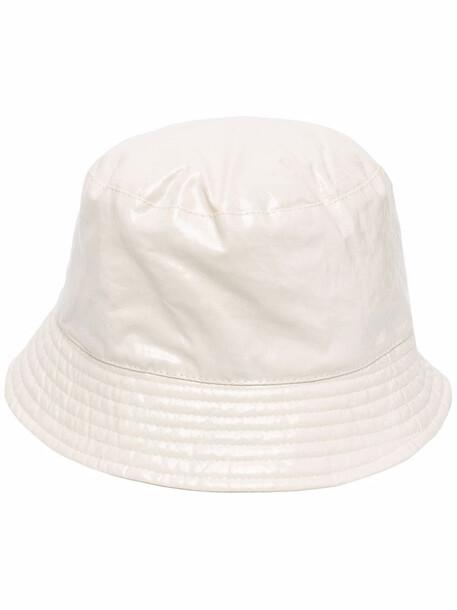 Isabel Marant logo-embroidered bucket hat - Neutrals