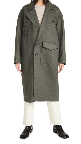 Tibi Cocoon Shape Maxi Coat in grey