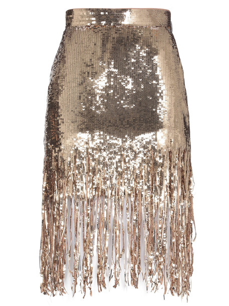 MSGM Sequin Skirt in gold
