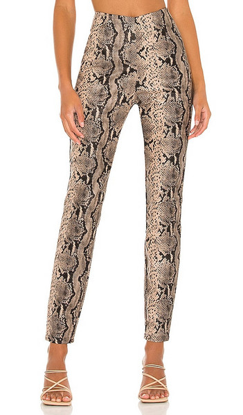 superdown Donna Snake Pant in Taupe in brown
