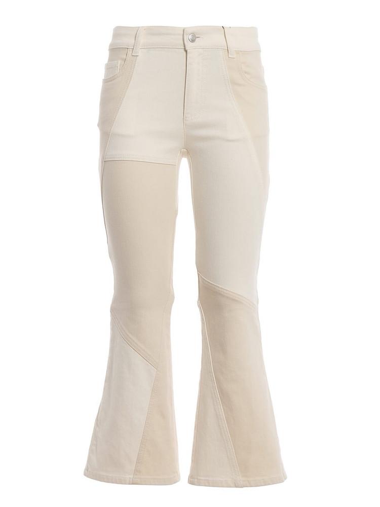 Alexander McQueen Kick Flare Jeans in cream