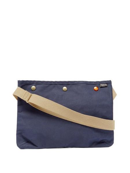 Porter-Yoshida & Co. Porter-yoshida & Co. - Coppi Canvas Cross-body Bag - Womens - Navy Multi