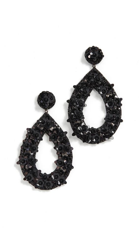 Deepa Gurnani Jan Earrings in black