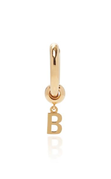 Balenciaga Force B Vermeil Single Earring in gold