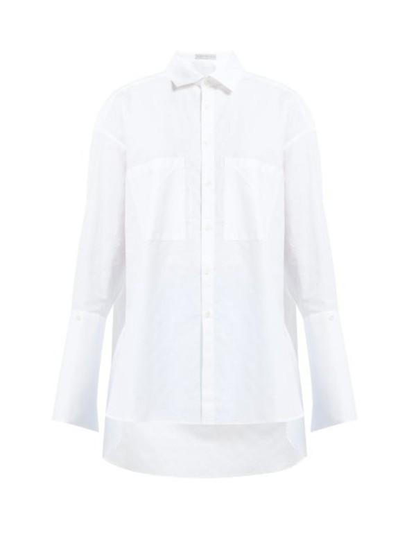 Palmer/harding Palmer//harding - Boyfriend Oversized Geometric Cotton Piqué Shirt - Womens - White