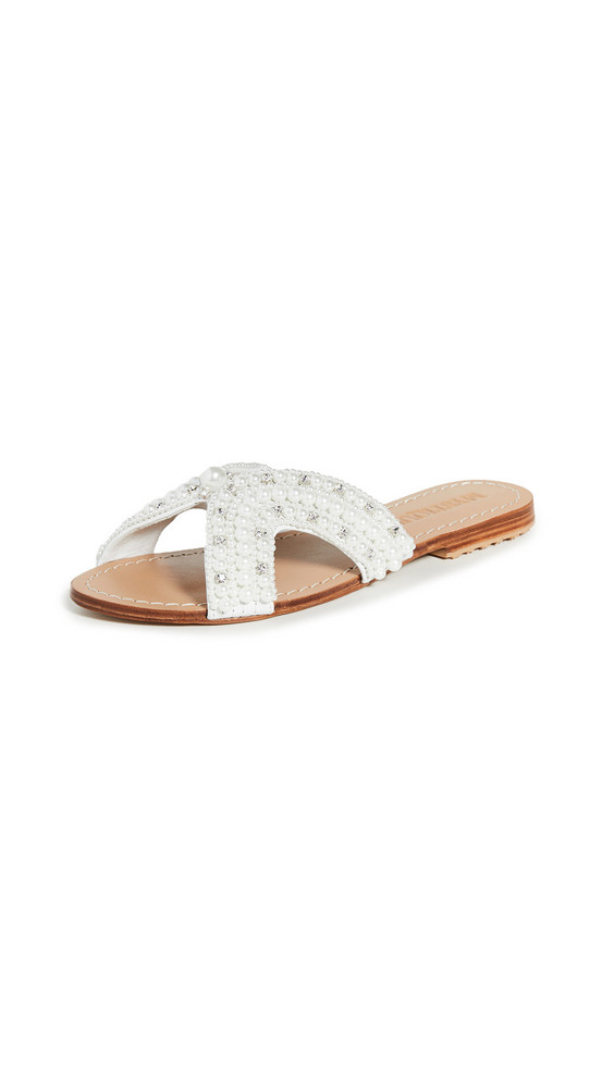 Mystique Imitation Pearl Slides in white