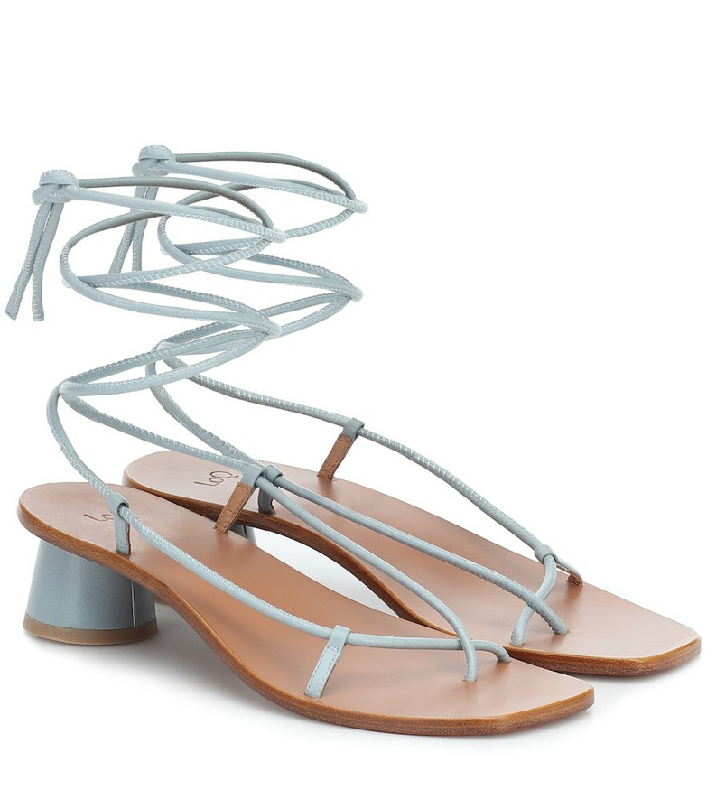 LOQ Olea leather sandals in blue