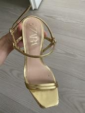 shoes,zara,gold,heels,sandals,zara shoes