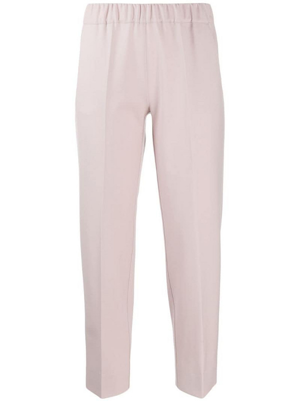 D.Exterior tapered cropped trousers in pink