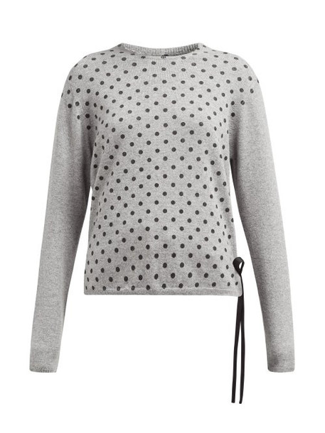 La Fetiche - Polka Dot Print Cashmere Sweater - Womens - Grey