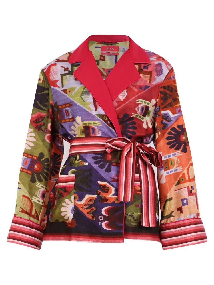 For Restless Sleepers Printed Twill Jacket in multi