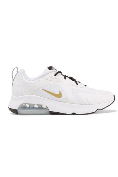 Nike - Air Max 200 Leather-trimmed Felt And Mesh Sneakers - White