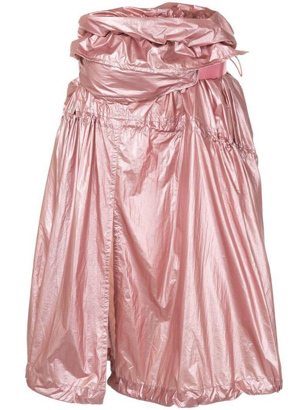 Juun.J gathered metallic skirt in pink