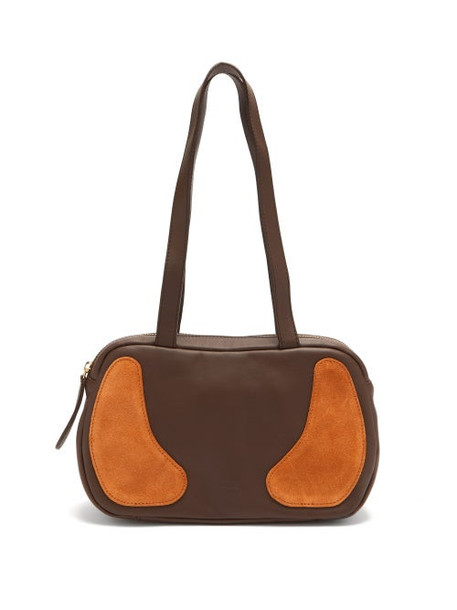 Gabriel For Sach - Decerio Xs Leather And Suede Shoulder Bag - Womens - Brown Multi