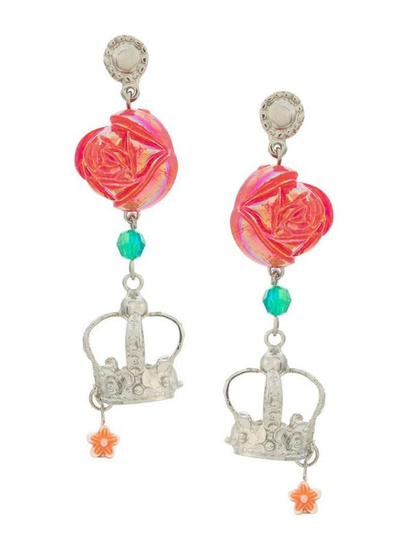 Amir Slama crown earrings in red