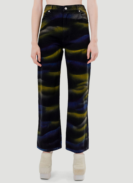 Eckhaus Latta Shadow Dye Jeans in Black size 32