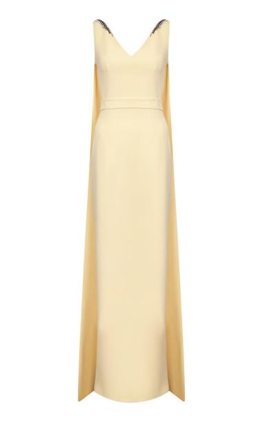 Safiyaa Alondra Sleeveless Heavy Crepe Dress in yellow