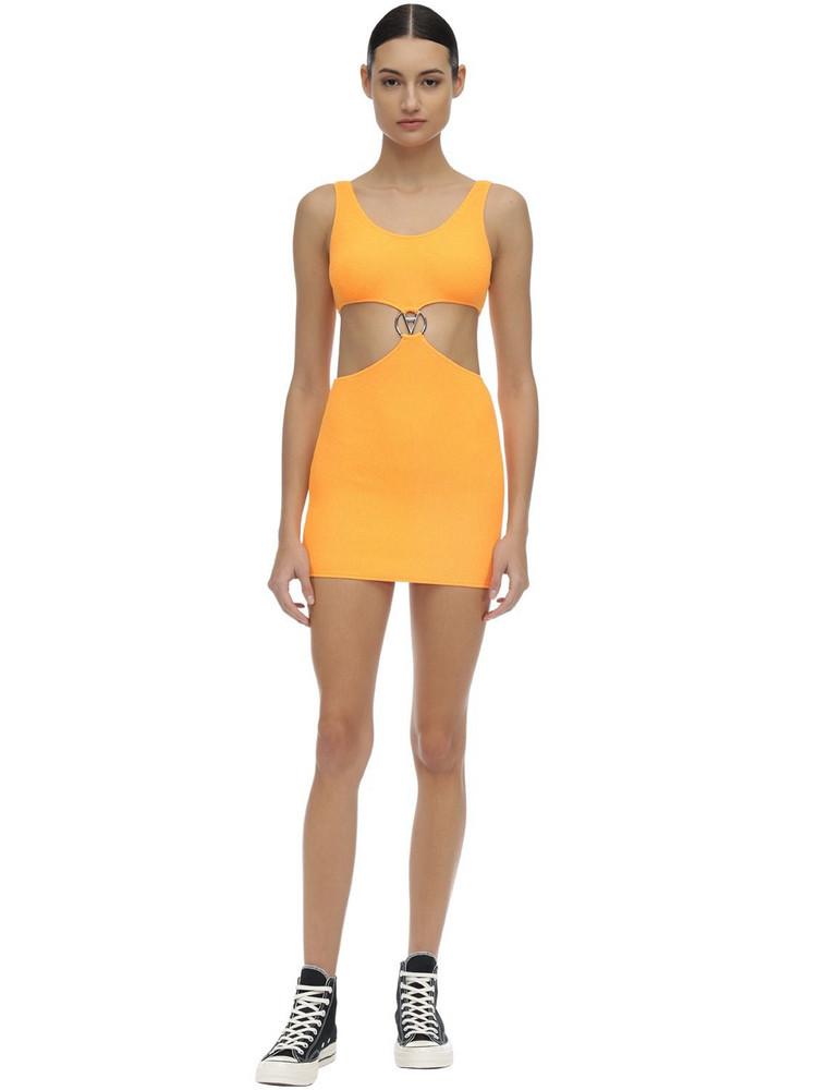 FILLES A PAPA Poppy Stretch Mini Dress in orange