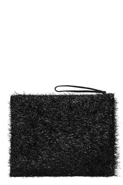 Anniel Big Clutch Furry Lurex Black Pochette
