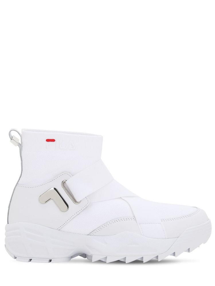 FILA URBAN Mfw01 Wmn Logo Nylon Sneakers in white