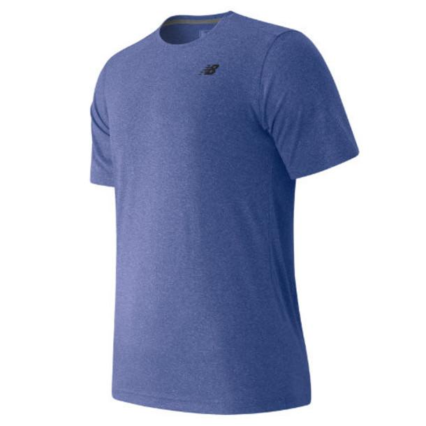 New Balance 53081 Men's Short Sleeve Heather Tech Tee - Blue (MT53081MBH)