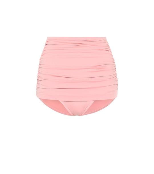 Norma Kamali Bill high-waisted bikini bottoms in pink