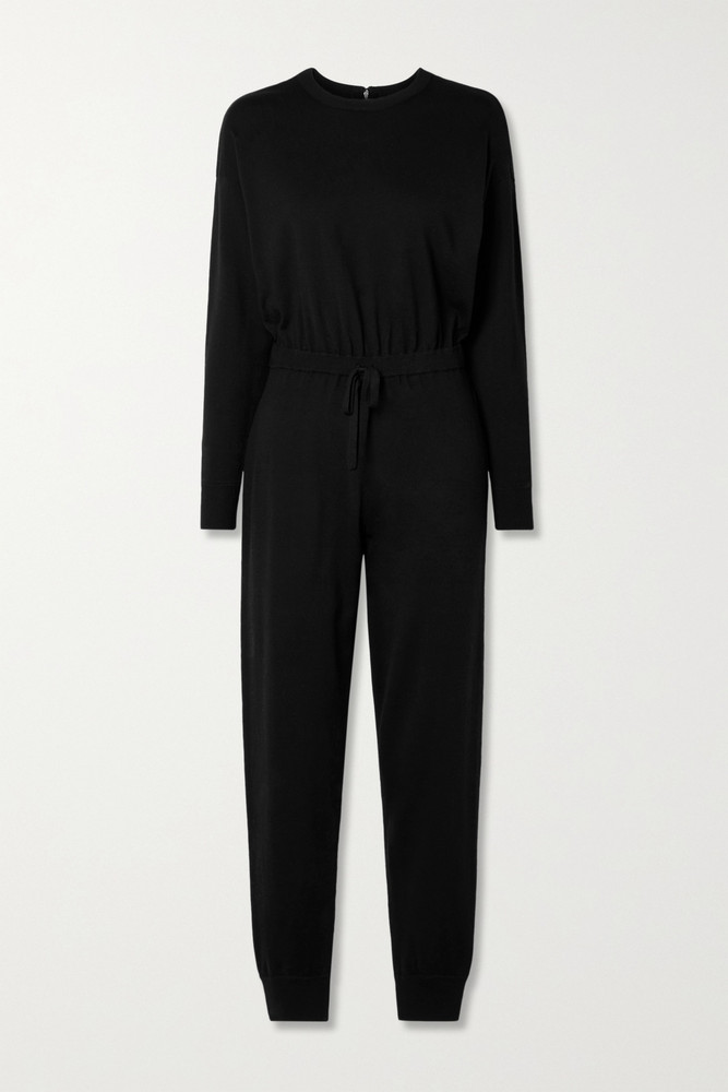 ALICE + OLIVIA ALICE + OLIVIA - Nikita Wool-blend Jumpsuit - Black